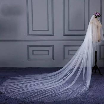 Erosebridal 2019 New Arrival 3 meter width 4 m Long Tailed Bride Veil Fairy Beauty Wedding Cathedral Wedding Veil