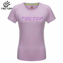 TECTOP Women Quick-Dry T-Shirt Women Camping Climbing Trekking Hiking Outdoor Sports T-Shirt Women Breathable Anti-UV T-Shirt