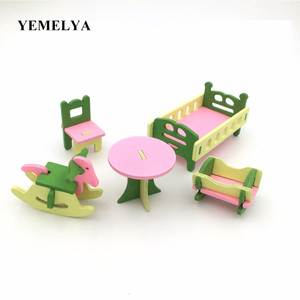 Simulation kitchen play house toys wooden furniture sets dolls toys children toys