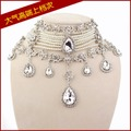 fashion jewelry pearl bridal necklace clip earring set rhinestone necklace earrings wedding jewelry sets white free shipping