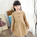 Girl Long Jackets Spring Casual Trench Coats For Girls 2017 Autumn Children Outerwear Kids Windbreaker 5 7 8 10 12 Years