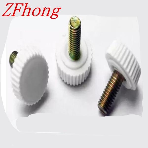 50pcs M4 plastic knurled hand tighten thumb screw M4*6/8/10/12/16/18/20/25 10pcs 6x15mm male threaded 22mm dia plastic thumb screw knurled knob