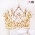 T3 Великолепная симпатичные Корона Женщины кристалл Тиара перл jewerlry Дети Девушки Корона Свадебные украшения для волос свадебные аксессуары mengzhi