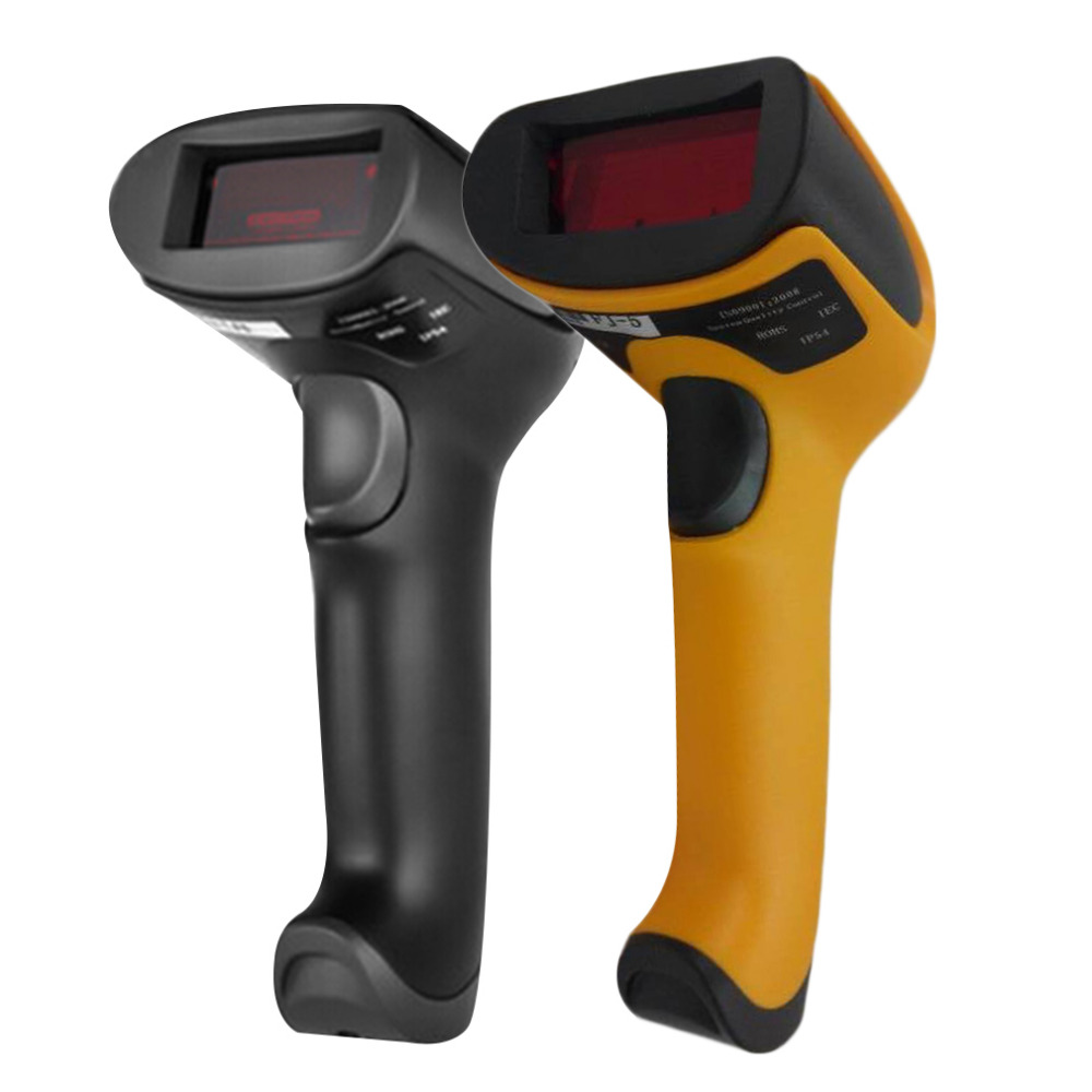 2017 Newest Black/Yellow ABS+PC Antiknock design USB 2.0 Handheld Barcode Reader, Laser Bar Code Scanner for POS PC usb wired desktop handheld laser barcode scanner gun light grey yellow black
