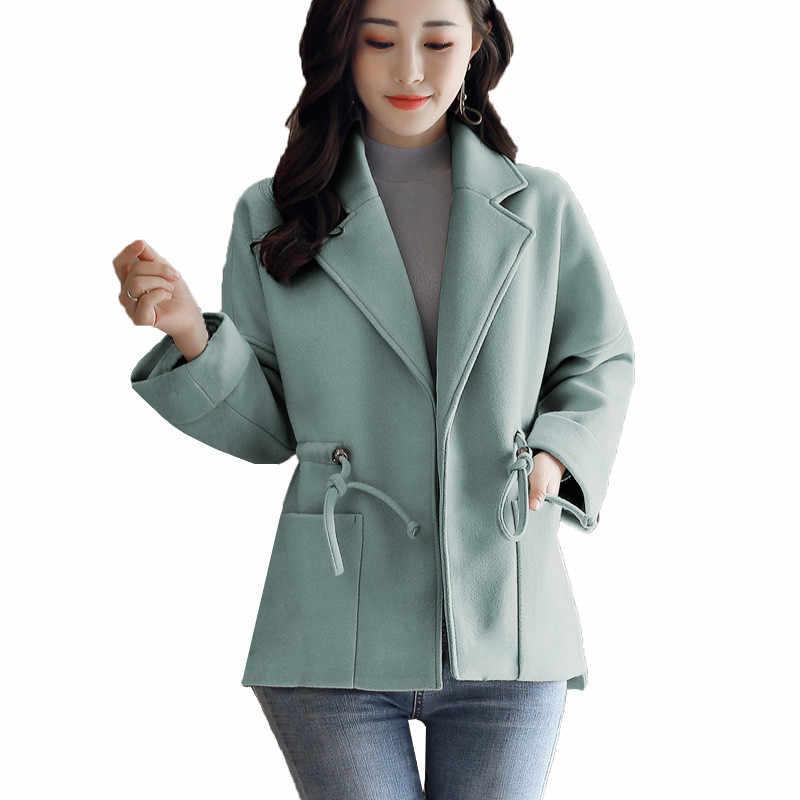 48e60835ba3 New Fashion 2018 Women Clothing Woolen Coat Winter Jackets Large Size  Irregular Cardigan Female Wool Outerwear