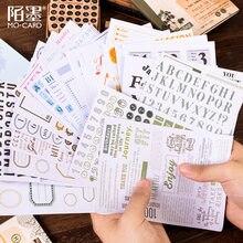 10 pièces coréen autocollants ensemble de base Alphabet inscriptible planificateur Scrapbooking accessoires Journal Journal fournitures papeterie autocollant