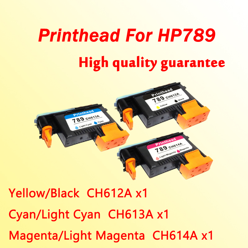 3x high quality printhead for hp789 for hp 789  L25500 printer head CH612A CH613A CH614A  1x 789 printhead yellow black for hp 789 l25500 printer head ch612a