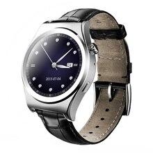 Satt runde smart watch uhr smartwatch sync notifier unterstützung sim-karte pedomete bluetooth-konnektivität android telefon und ios