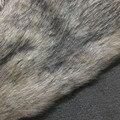 Sofá de piel sintética de lujo piso decoración de prendas de vestir de tela de tela 50x150 cm tejido de felpa de pelo largo de piel de piel