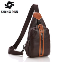 New Men Genuine Cow Leather Top Quality Cross Body Messenger Shoulder Travel Riding Fahion Casual Sling Pack Chest Bag for men