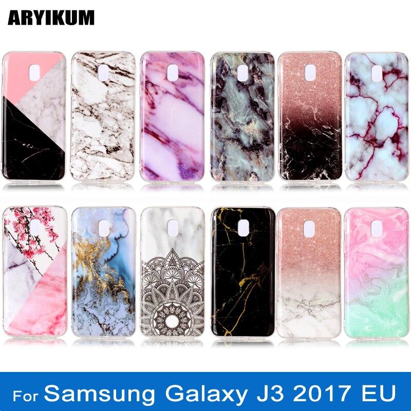 ARYIKUM De Luxe Silicone Cas de Marbre Pour Samsung Galaxy J3 2017 Pro Cas SM J330F J330 J3300 Couverture Pour Samsung J3 J 3 2017 Coque