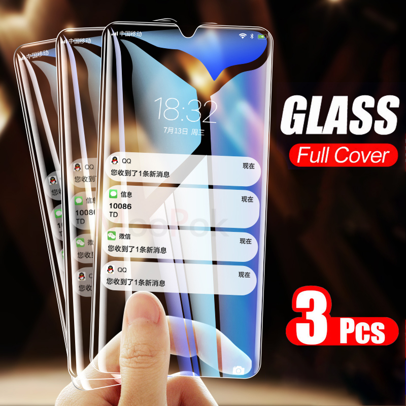 3Pcs 2.5D 9H Protective Glass On The For Huawei P30 P20 P10 Lite Pro Mate 20 Lite Tempered Screen Protector P Smart 2019 Film