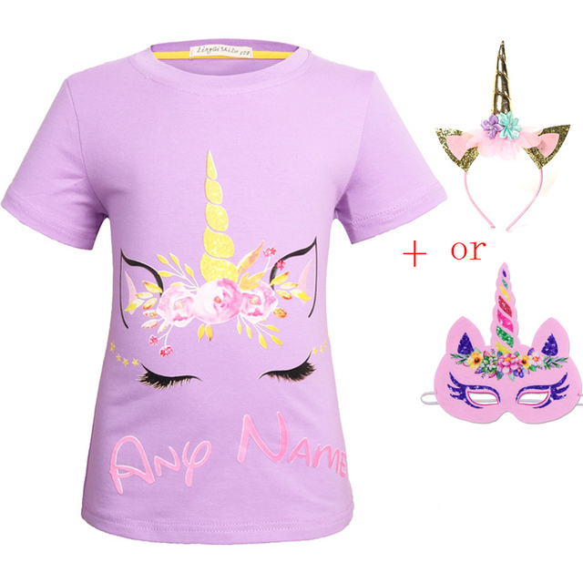 80dc54be 2018 New Summer Childrens my little Girl Cotton T-Shirt unicorn party  costumes baby T Shirts kids tees for girls tshirt clothing