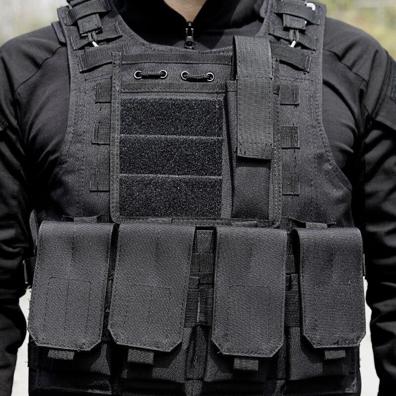 Männer Taktische Weste Jagd Military Ausrüstung Airsoft Military Uniform Kampf Weste Colete Tatico Chaleco Armee Weste Schwarz - 3