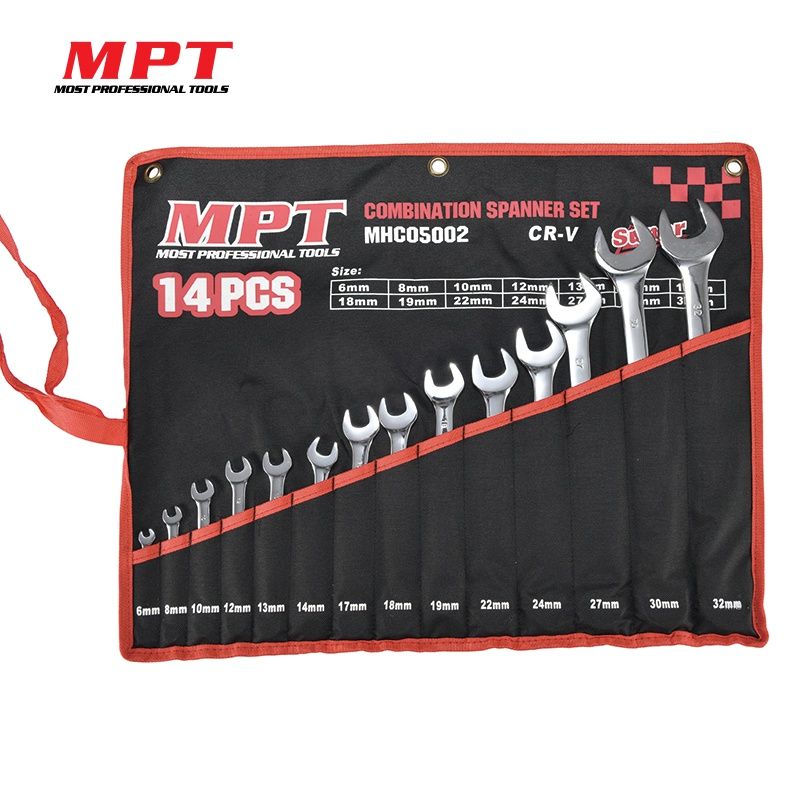 MPT 14Pcs Steel Combination Spanner Set With Tool Organizer Professional Car Mechanic Repair Wrench Set atomic force into a professional level tool wrench spanner more specifications