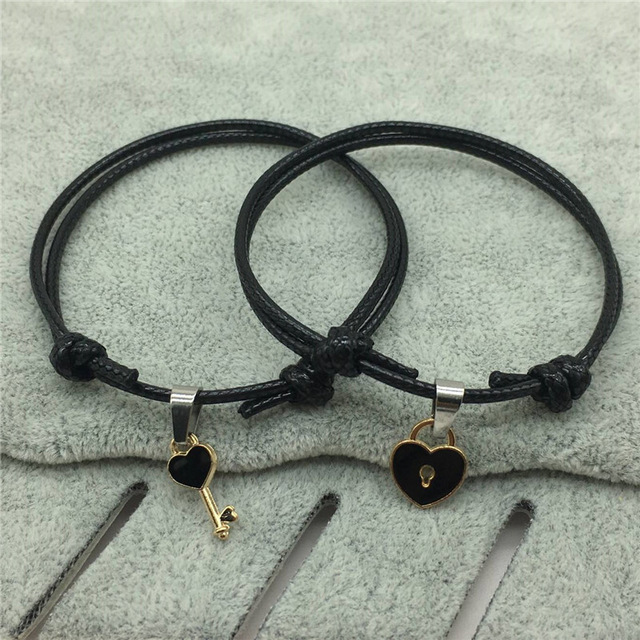 Duo de Bracelet pour Couple Noir