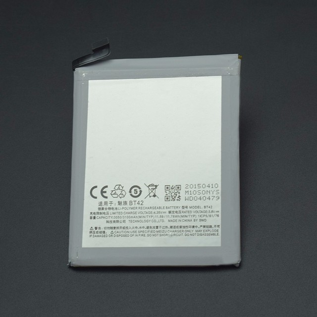 Meizu M1 Note Battery Replacement High Quality 3100mAh Battery Parts For Meizu M1 Note MEIZU BT42 Smart Phone +