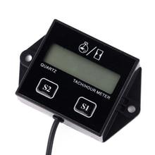 New SRT-11A Waterproof Digital Engine Tach Hour Meter Tachometer Gauge Inductive For Motorcycle Motor Stroke Engine Spark