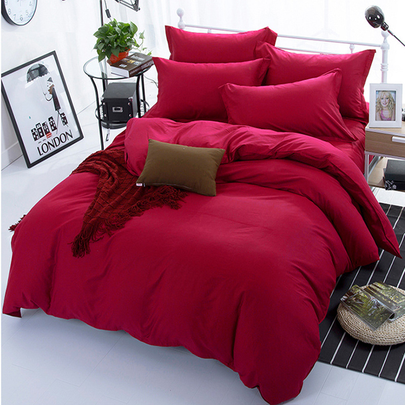 Burgundy Color 100% Cotton Duvet Cover For Kids Adults Bedroom Use XF642-5 (No Pillowcase)