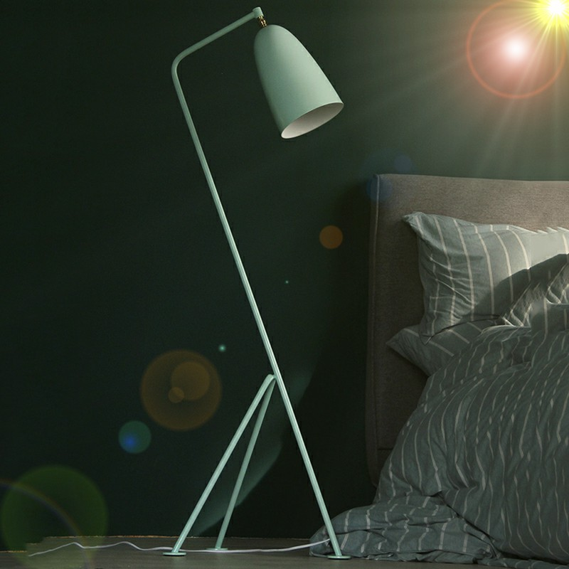 Modern Colorful Minimalism Industrial Floor Lamp Standing Lamps for Living room Reading Lighting Loft Iron Triangle Floor Lamp aibiou white led floor lights for living room adjustable standing lamp black floor lamps modern reading lighting fixtures