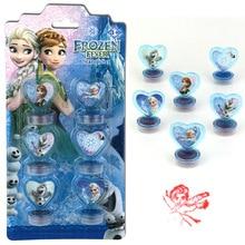 Disney 6 шт. Замороженная Принцесса Аиша Человек-паук мультфильм штампованные детские игрушки печать инструменты для рисования художественные принадлежности игрушки подарок
