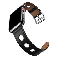 Newest Genuine Leather For Apple Watch Band Hole Bracelet Strap 38mm 42mm Watch Bands For IWatch