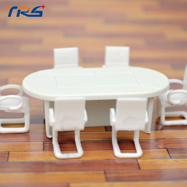 1 50 Sand Table Model Mini Furniture Office Materials Section Apartment Layout Tables And Chairs Set