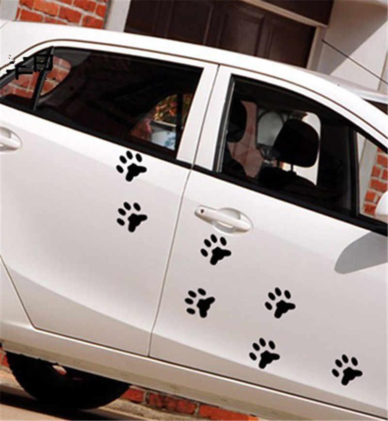 Newbee 4 шт. Автомобильная наклейка из ПВХ, 3d-наклейка в виде собачьей лапы, Виниловая наклейка с изображением мультяшных животных, следов панды, когтей для ног, украшение для дома
