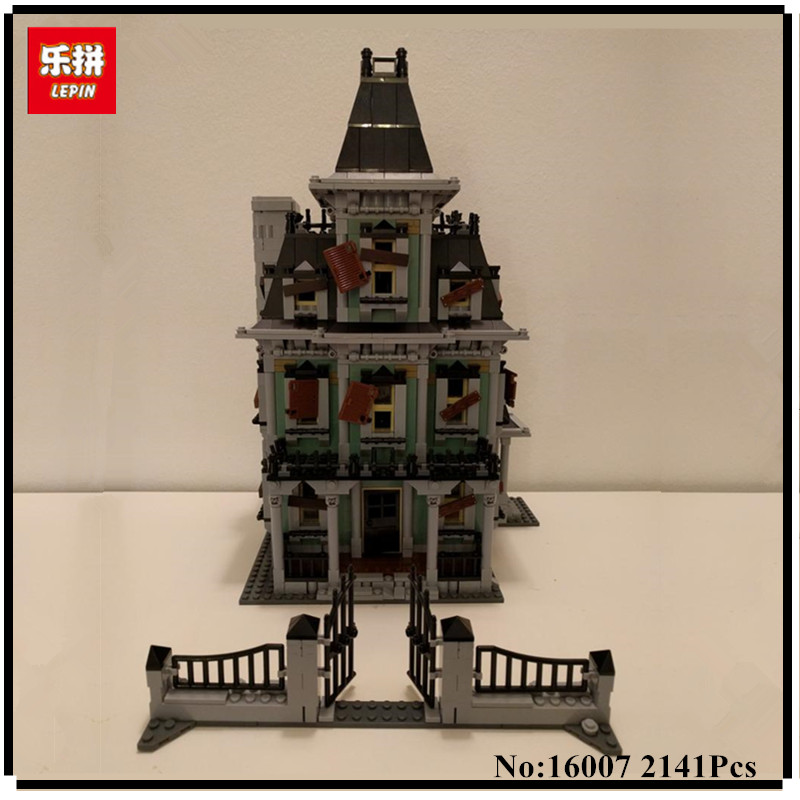 IN STOCK IN STOCK New LEPIN 16007 2141Pcs Monster fighter The haunted house Model set Building Kits Model Compatible With10228 led ceiling lamps iron creative lighting modern minimalist living room bedroom lamp restaurant