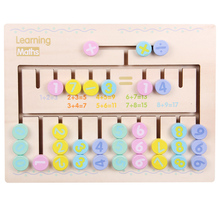 The new Children Wooden Math Toys Montessori Materials Learning To Count Numbers Matching Digital match Early Education Teaching mental math revamp the learning
