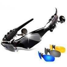 Sport Draadloze Bluetooth Headset kleurrijke Zon lens Oortelefoon Zonnebril Rijden Bril met Handsfree Answer Call Mp3 Speler