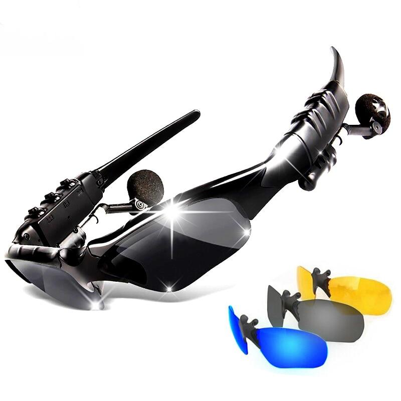 Sport Wireless Bluetooth Headset bunte Sonne objektiv Kopfhörer Sonnenbrille Reiten Gläser mit Freisprecheinrichtung Antwort Anruf Mp3 Player