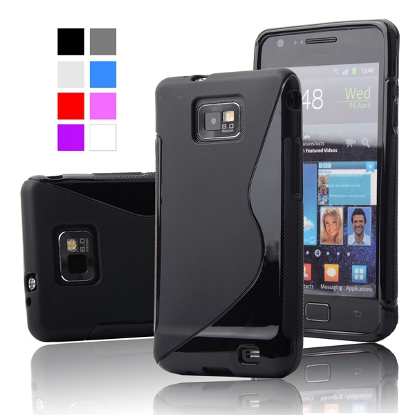 For Galaxy S2 S Line TPU Silicone Cover Rubber Soft Case For Samsung Galaxy  S2 SII 1a326c6bebdf