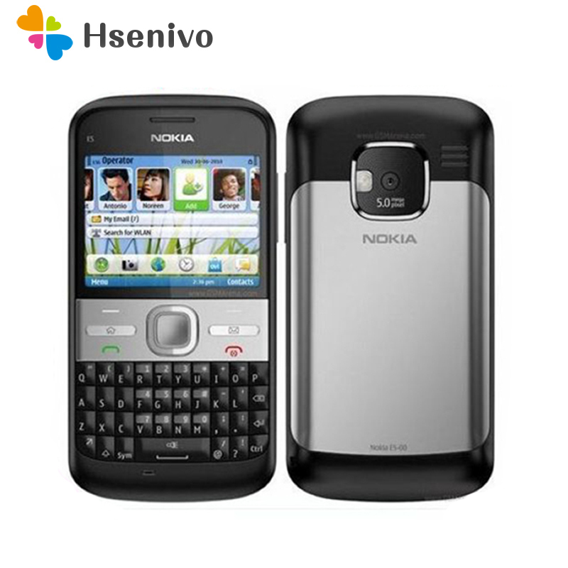 Refurbished Original Unlocked Nokia E5 5MP Camera 3G Network Russian Keyboard Russian Languge Cell Phones Fast
