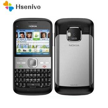 Refurbished Original Unlocked Nokia E5 5MP Camera 3G network Russian keyboard Russian languge cell phones Fast