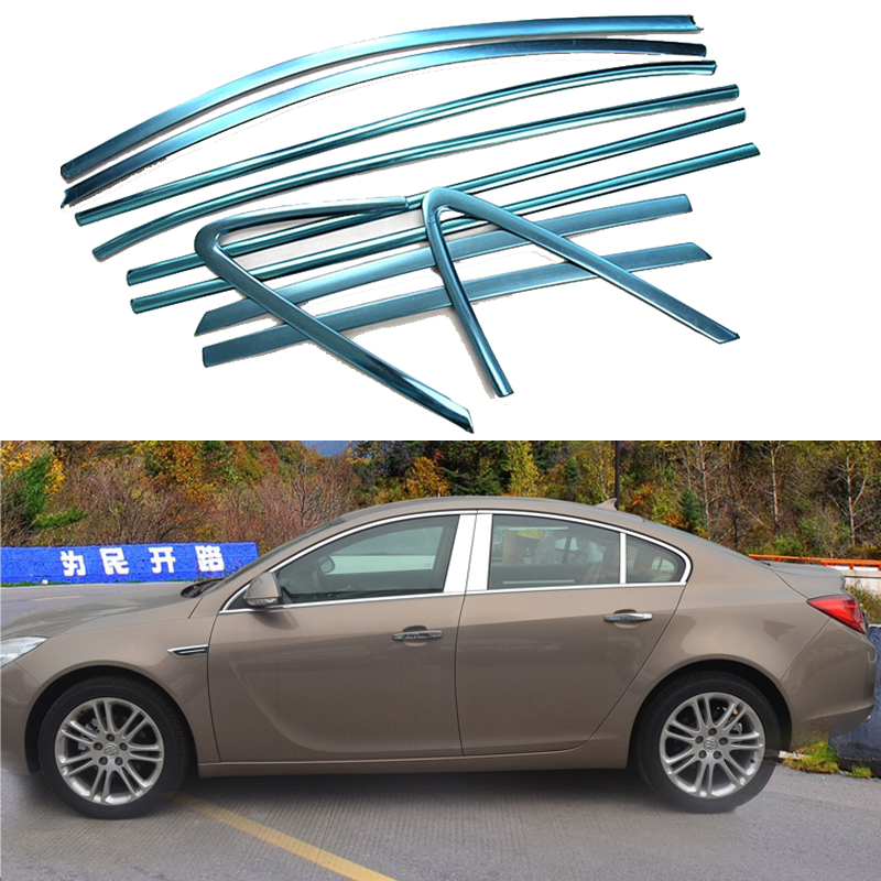 Car Styling Decoration Strips For Opel Insignia 2009 2010 2011 2012 2013 2014 2015 Stainless Steel Full Window Trim car rear trunk security shield shade cargo cover for nissan qashqai 2008 2009 2010 2011 2012 2013 black beige