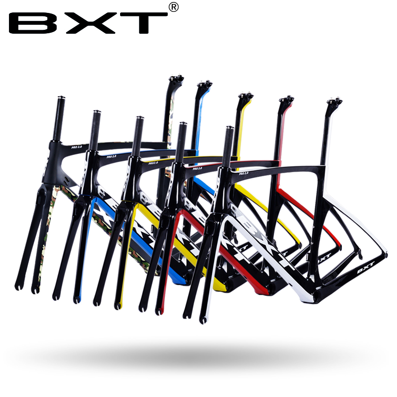 2017 carbon road frame BXT  Di2 Carbon Road Bicycle Frame Super Light Frame+Fork+headset Chinese cheap bike frame bicycle parts