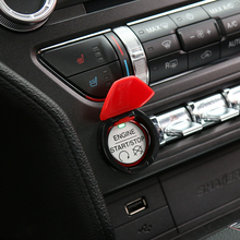 SHINEKA Car Styling Engine Start/Stop Button Recortar la Cubierta Cubierta Decoración Interruptor de Arranque para Ford Mustang 2015 +