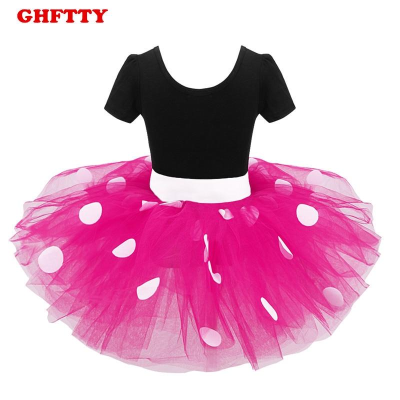 Ghftty 2019 الصيف الاطفال الفساتين للفتيات ميني ماوس الأميرة حزب اللباس حلي ملابس الرضع نقطة ملابس الطفل عيد