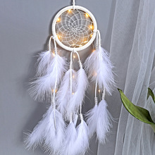 1Pcs /bag  Home Pendant Decoration Wind Bells Wall Hanging Catching Monternet Wedding Party Decor Feathers Handmade Dream Catche