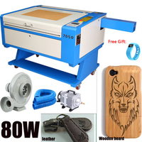 UK Shipping! 80W USB CO2 Laser Cutter Engraver Laser Cutting Engraving Machine High Precision w/ free gift