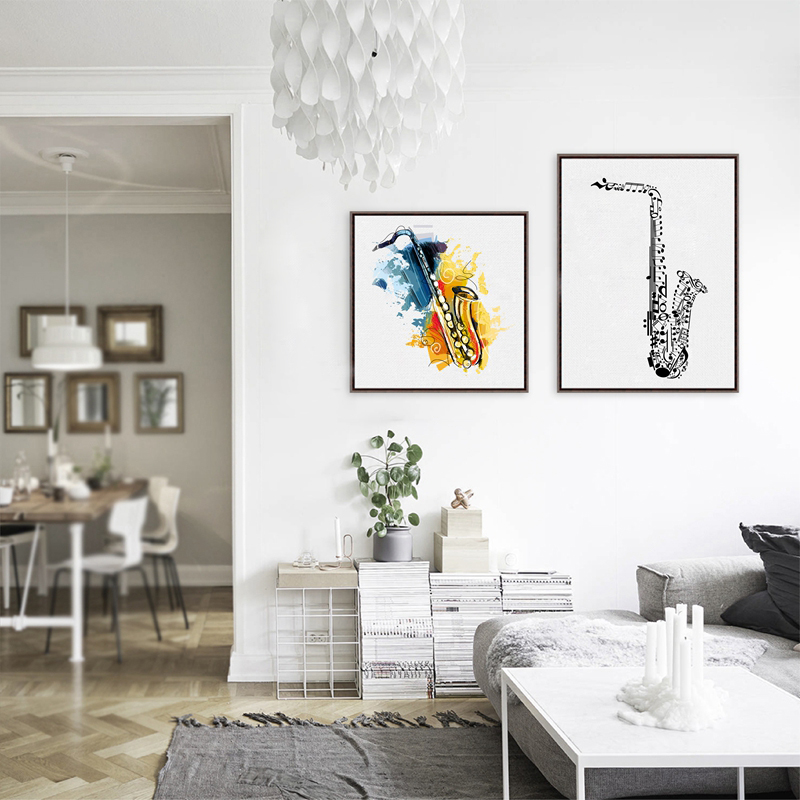 Saxophone Wall Art » Music Note Gifts