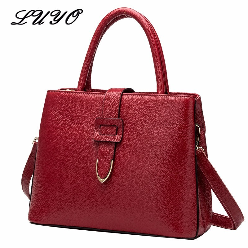 LUYO 2017 Belt Fashion Genuine Leather Bag Ladies Female Luxury Handbags Women Shoulder Bags Designer Femmes Luxe Sac Borsa qiaobao 100% genuine leather handbags new network of red explosion ladle ladies bag fashion trend ladies bag
