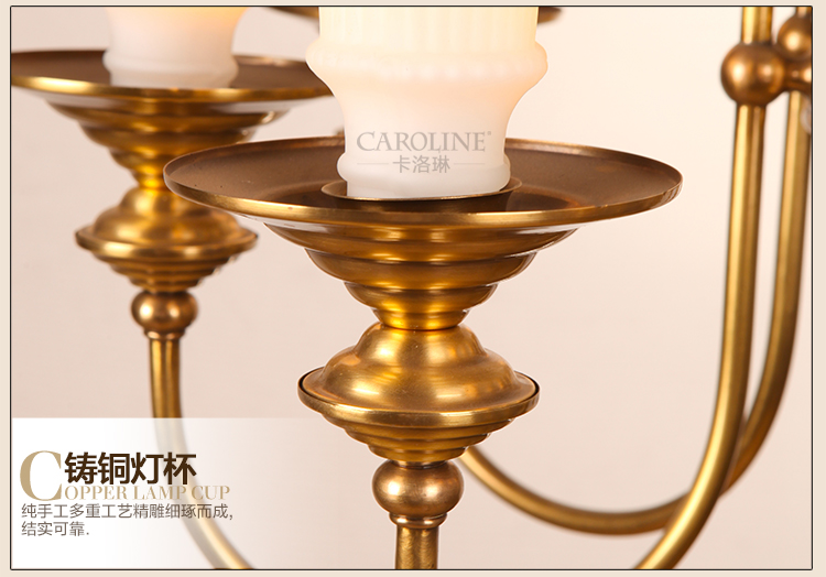 large glass lampshade gold brass chandelier led lampara for church - Indoor Lighting - Photo 5