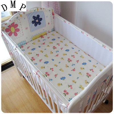Promotion! 5PCS mesh Cot Bedding Set baby bedding set baby boy bedding Bed Sheet ,include:(4bumper+sheet) promotion 6pcs baby bedding set cot crib bedding set baby bed baby cot sets include 4bumpers sheet pillow