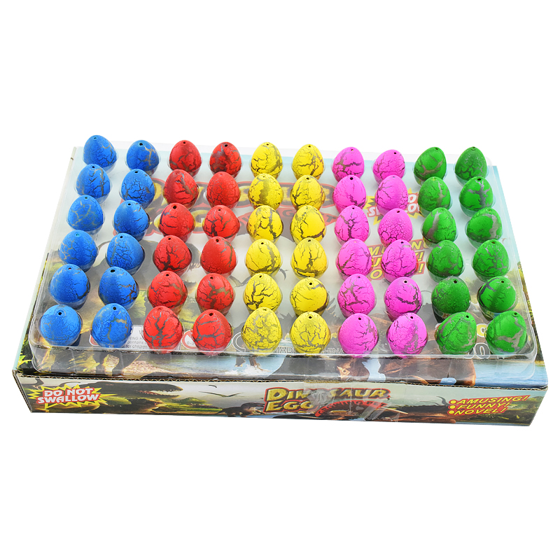 60pcs/lot Magic Dinosaur Eggs Toy For Kids Gifts Children Water Hatching Inflation Growing Dino Egg Novelty Gag Toys magic growing tree