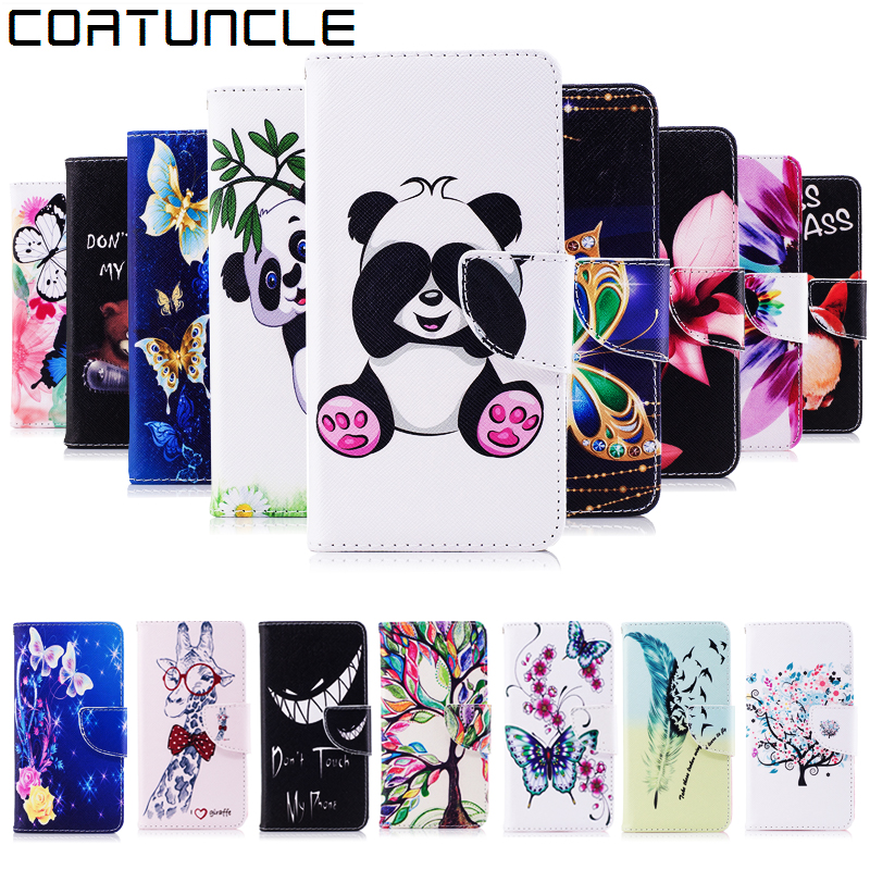 Huawei P20 Lite Case, Leather Case For Coque Huawei P20 Case Huawei Nova 3E Cover Flip wallet Painted Print Stand Phone Cases