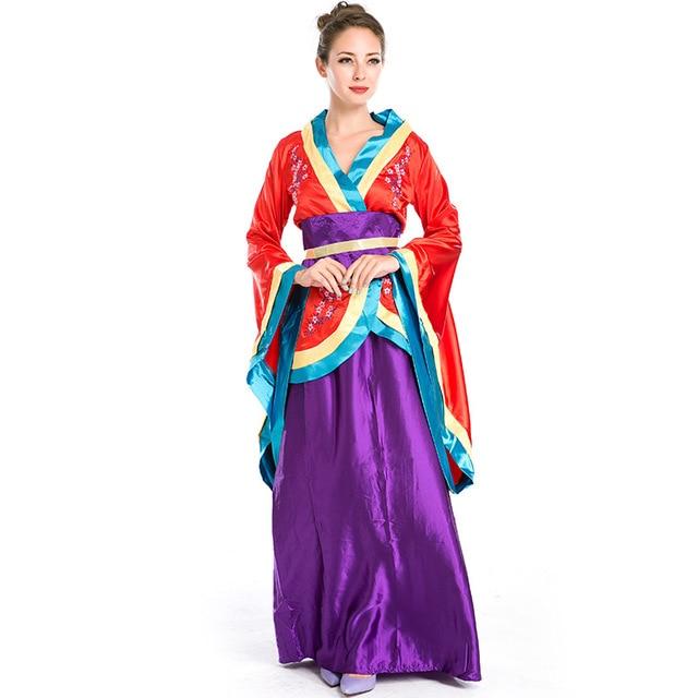 dd4aa465a Trajes de Halloween Traje Gueixa Japonesa Sakura Kimono Trajes Cosplay Fantasia  Vestido Roupas para Mulheres