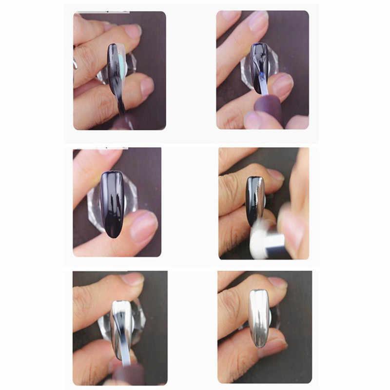 Espejo efecto polvo uñas cromadas pigmento en gel polaco paznokcie ongles material brillo para uñas holográfico