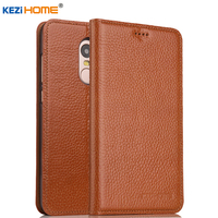 KEZiHOME For Xiaomi Redmi Note 4 Case Flip Genuine Leather Soft Silicon Back For Xiaomi Redmi